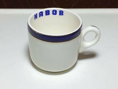 "Vintage Nabob advertising  Demitasse Bristol grounded 1852 England"" Vitrite"""