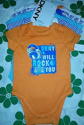 @@ Dkny 5 Pieces Baby One-Pieces Size 3-6 Months - New @@
