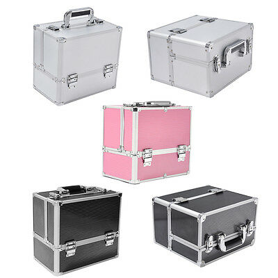 Extra Large Vanity Case Beauty Box Travel Make-up Jewelry Cosmetic Nail Storage