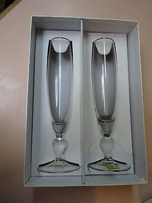 WATERFORD CRYSTAL.Sweet Memories Toasting Flutes(2) .MARQUIS
