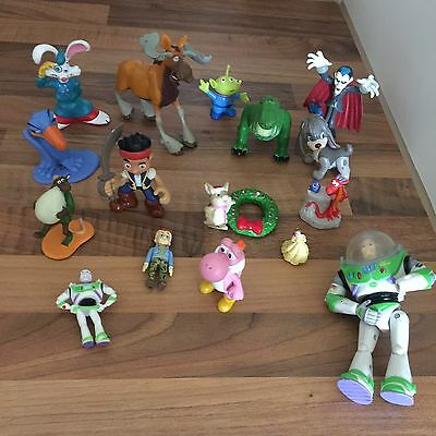 Large Assorted Bundle Of Disney Figures PVC Cake Toppers