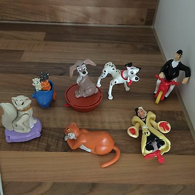 Large Assorted Bundle Figures PVC Cake Toppers 101 Dalmations & Aristocats