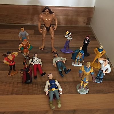 Large Assorted Bundle Of Disney Figures PVC Cake Toppers Prince