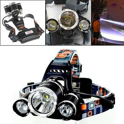 8000 LM 3x XM-L CREE T6 LED Rechargeable Headlamp Headlight Head Torch Lamp FT