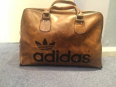 Adidas vintage 70s Peter Black tan leather bowling bag
