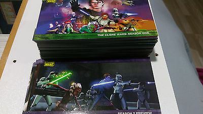 Star Wars Clone Wars Series1 Widevision Card Set With Preview Card Set
