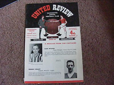 1960/61 League Cup  Manchester United  V  Exeter City