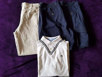 Lacoste Shorts, Shirt And Trousers - 36W, 38W And Xxl, Great Condition!