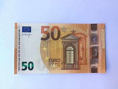 New 50 euro banknote 2017. Europa Series (Draghi) UNC. Prefix VA Spain