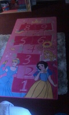 girls pink hopscotch disney princess rug