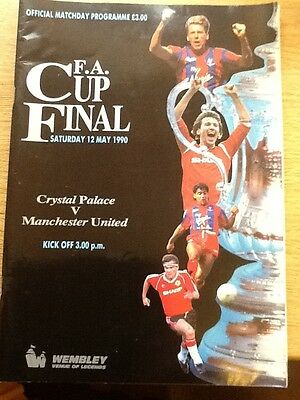 1990  FA Cup Final---------Crystal Palace v Manchester United