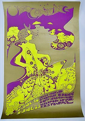 Hapshash & the Coloured Coat Poster - 1967 UFO Coming UK First Printing OA-104
