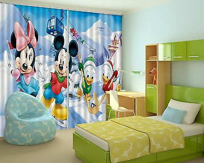 3D Cartoon 7833 Blockout Photo Curtain Printing Curtains Drapes Fabric Window CA