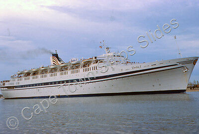 Original Colour Slide Of The Passenger Ship Caribe 1 Ex Olympia