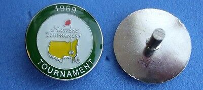 1 metal STEMMED US MASTERS Golf Ball Marker 1969 George Archer