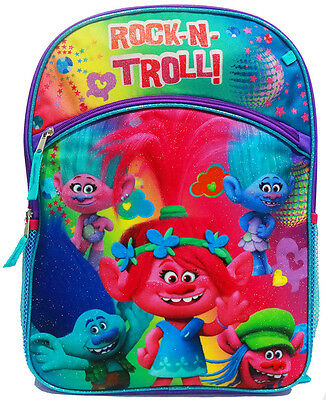 New Large Kids Backpack School Bag Preschool Finding Trolls Boys Girls Gift New