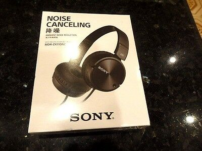 New SONY NOISE CANCELLING Headphones, Ambient Noise Reduction - MDR-ZX110NC