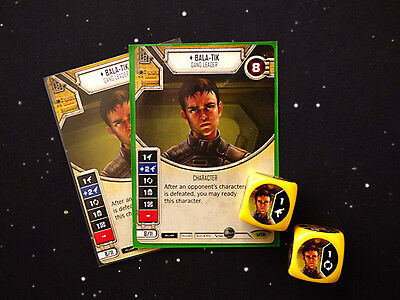 Star Wars Destiny Double Bala Tik Cards and Dice