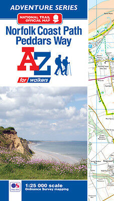 A-Z Norfolk Coast Path and Peddars Way Adventure Atlas (1:25000 OS Mapping)