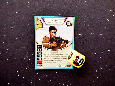 Star Wars Destiny Finn Card and Dice
