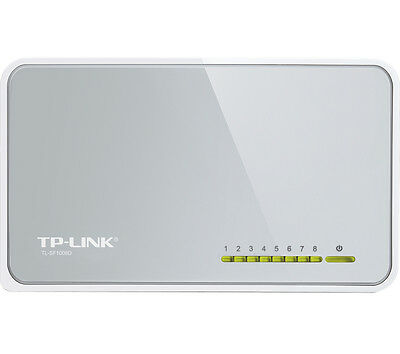 TP-LINK TL-SF1008D 8-Port Ethernet Switch Energy Saving Plug & Play White