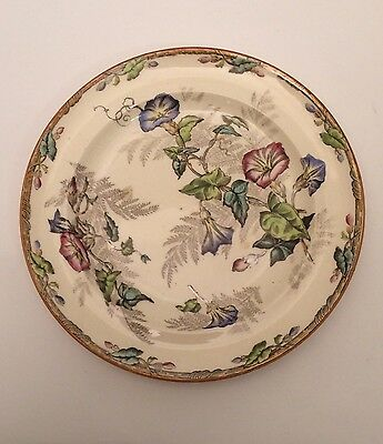 """Copeland 7.5"""" Plate - Convolvulus Patten Transfer And Hand Painted 1850-1867"""