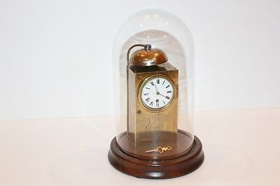 Rare Antique Robert Fletcher Brass Travel Clock with Alarm Circa 1780s