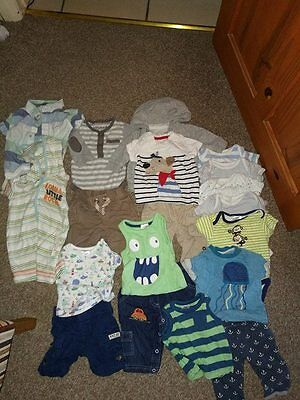 first size, 0-3 mths boy bundle trousers t-shirt next, john lewis baby