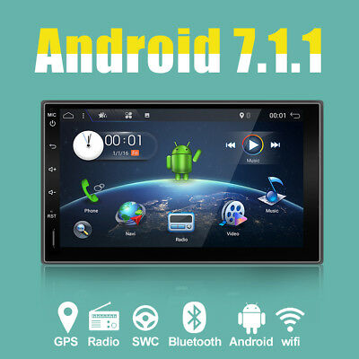 Quadcore Android 6.0 Double 2 DIN Car GPS Sat Nav Player Stereo SWC NO DVD