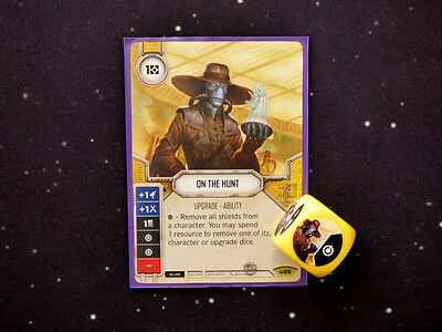 Star Wars Destiny On the Hunt Rare Card and Dice