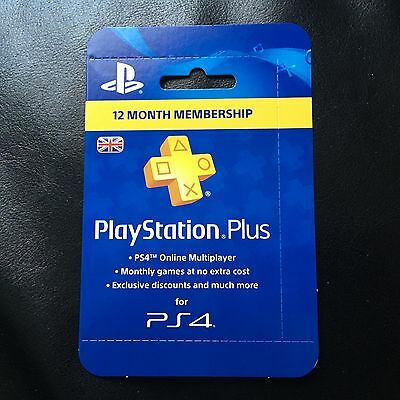 PlayStation Plus PS4 UK 12 Month Card - Brand New & Super Fast Delivery
