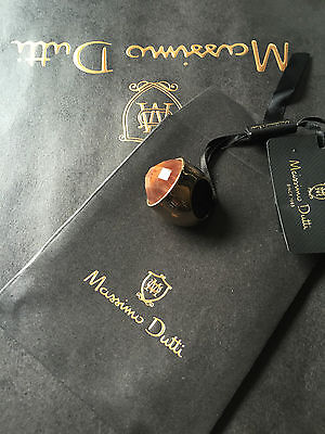 NWT Maxi Stone MASSIMO DUTTI ring RRP39.95€ with gift bag