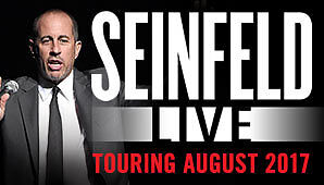 2 X Jerry Seinfeld Melbourne P1 Floor Reserved Tickets MON 7 AUG 2017 Hard Copy