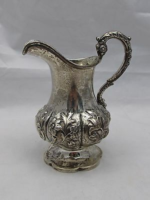 LOVELY DECORATIVE VICTORIAN SOLID SILVER MILK OR CREAM JUG HAYNE & CARTER 142 g