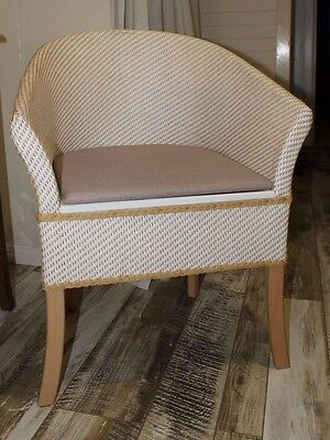 Commode modern style wicker chair.  Like new