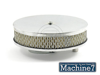 VW Camper Pancake Air Cleaner Filter Chrome Solex Carb Split Screen Bay T2 Bus