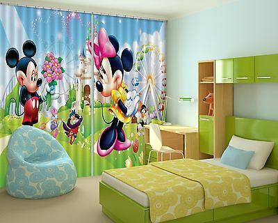 3D Cartoon  932 Blockout Photo Curtain Printing Curtains Drapes Fabric Window CA