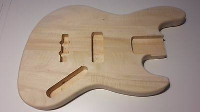 Jazz bass guitar body natural unfinished new