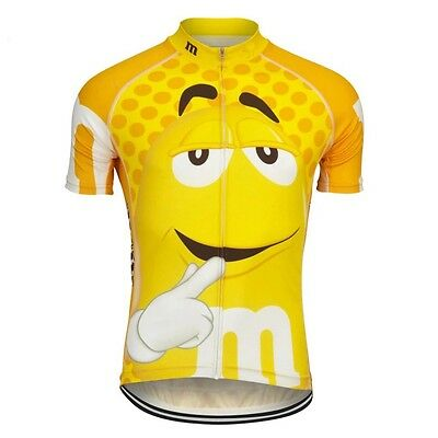 M&Ms Cycling Jerseys Mens Womens Jersey Shirt Breathable Quickdry Cartoon