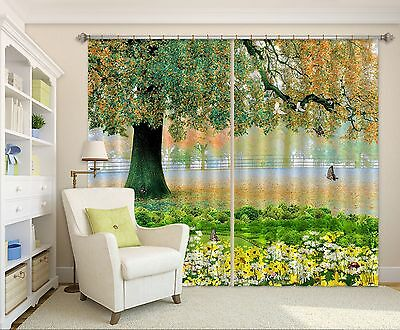 3D Tree Field 7 Blockout Photo Curtain Printing Curtains Drapes Fabric Window CA