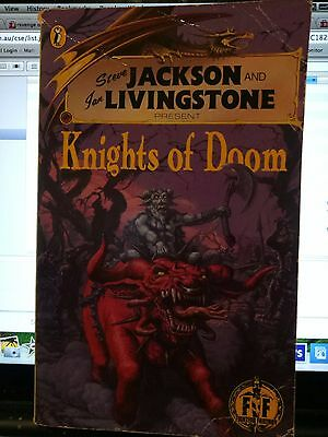 Steve Jackson Ian Livingstone Fighting Fantasy KNIGHTS OF DOOM rare early book
