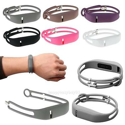 Replacement Silicone Wristband Strap Adjustable Bracelet Band for Fitbit Flex