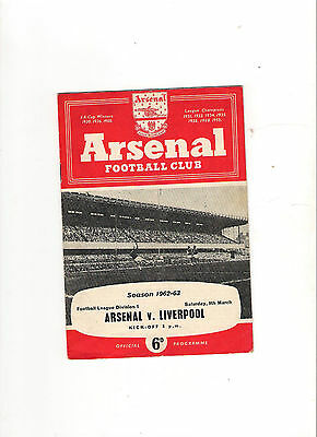10 Different  Arsenal Programmes
