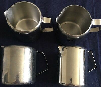 x5 Stainless Steel Milk Jug - Serving - Tea Coffee- Catering - Tableware