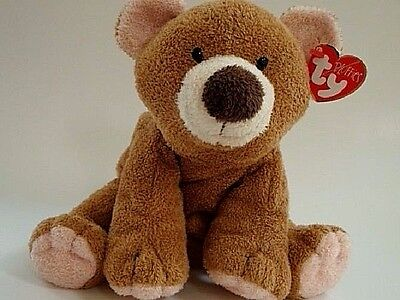 Ty Pluffies Slumbers the Brown and Peach Bear Cub 2002 PlushTylux MWNMT Retired
