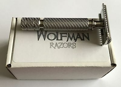 Extremely rare Wolfman WR1-DC Razor Head Polished on WRH2 handle