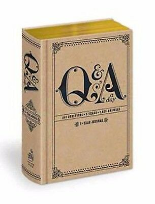 Q and A a Day: 5-year Journal ,beautiful gold gilded pages By Potter Style