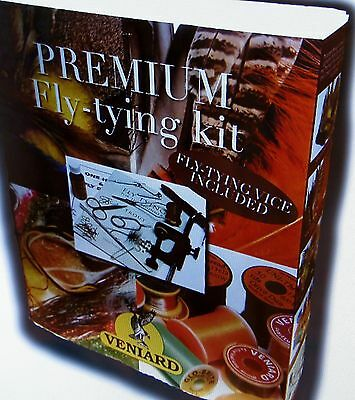 New Unused Veniard Complete Fly Tying Kit , Inc Vise And Dvd