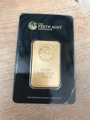 Perth Mint 1oz (Ounce) Gold Bar 999.90 FREE DELIVERY