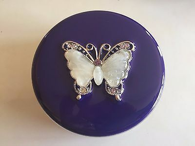 Papyrus Purple And Silver Butterfly Trinket Box * New In Box *